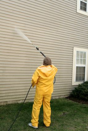 Pressure washing in Emeryville, CA by Nick Mejia Painting.