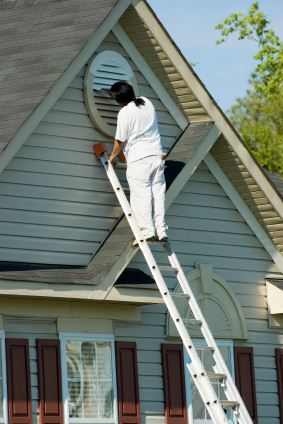 Exterior Painting being performed by an experienced Nick Mejia Painting painter.