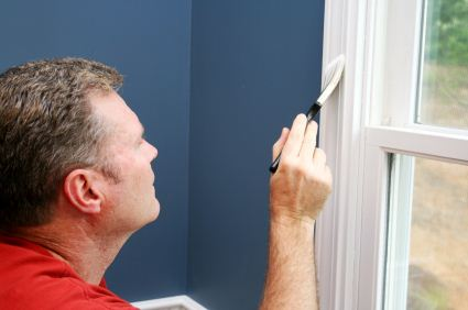 Interior Painting being performed by an experienced painter.